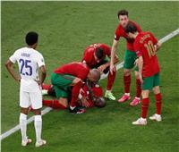 تصادم قوي بين حارس فرنسا ولاعب البرتغال | صور وفيديو