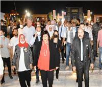 وزيرة الثقافة ومحافظ أسوان يفتتحان أعمال تطوير سينما ومسرح الصداقة
