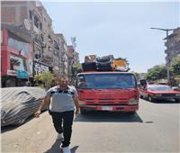 حملة موسعة لإزالة الإشغالات وضبط المخالفين في «شمال الجيزة» | صور