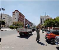 رفع 364 حالة إشغال طريق في دمنهور وحوش عيسى بالبحيرة
