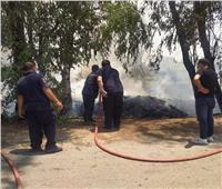السيطرة على حريق بمقطورة فحم بالسنطة