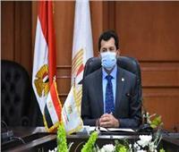 وزير الشباب والرياضة يفتتح ملاعب ونادي أعضاء هيئة تدريس جامعة بنها