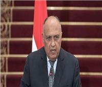 شكري : مصر لن تتهاون فى الدفاع عن مصالح شعبها وحقوقه التاريخية
