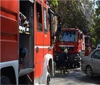 إخماد حريق نشب داخل محلات تجارية بأبو النمرس