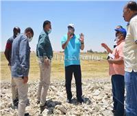 محافظ الوادي الجديد يتفقد زراعات الأرز الجاف بالفرافرة