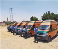 ضم 5 سيارات متطورة لأسطول هيئة الإسعاف بدمياط