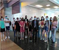 وفد إعلامي أوكراني يصل مطار القاهرة لزيارة 4 مدن سياحية