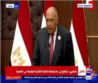 «شكري»: نتطلع لاستضافة القمة الرابعة بين مصر والعراق والأردن.. فيديو