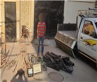 حبس صاحب مخزن خردة لسرقته معدات بناء من داخل موقع بالمرج