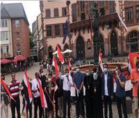 «بهتافات تحيا مصر».. الجالية المصرية في ألمانيا تحتفل بثورة ٣٠ يونيو