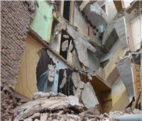 انهيار أجزاء من عقارين بمنطقتي اللبان وأبو سليمان بالإسكندرية| صور