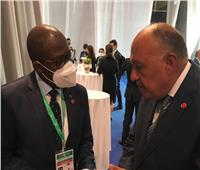 «شكري» يلتقي وزير خارجية جمهورية الكونغو الديمقراطية لمناقشة قضية سد النهضة