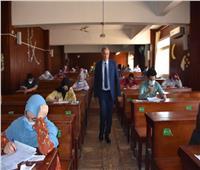 انتظام سير الامتحانات بكلية الصيدلة بجامعة مدينة السادات