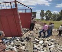 إزالة فورية لعدد من حالات التعدي على الأراضى الزراعية بـ5 مراكز فى الدقهلية