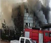 حريق هائل في مصنع «ولاعات» ببني سويف