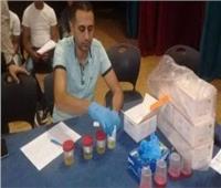 فحص 25 قائد سيارة وإيجابية 2 سائقين لتحليل المخدرات فى أسوان