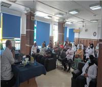 دورة تدريبية عن مرض الفطر الأسود بمستشفى حميات دمياط