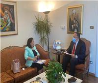 أمين عام وكالة الشراكة من أجل التنمية يلتقي ممثلة الصحة العالمية بالقاهرة