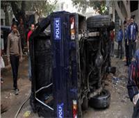 مصرع ضابط ومعاون شرطة في انقلاب سيارة مرافقة لـ«محافظ البحر الأحمر»