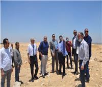 نائب محافظ بني سويف يتفقد الموقع لإقامة مدينة زراعية صناعية بمدينة سمسطا
