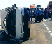 مصرع وإصابة 10 أشخاص في 3 حوادث متفرقة بالطريق الساحلي بمطروح