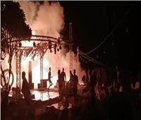 نشوب حريق هائل بإحدى الفيلات بطريق التأمين في أسوان