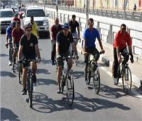 التدريب الأسبوعي للمشروع القومي للدراجات بالدقهلية تحت شعار «رياضتي دراجتي»