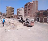 رفع 159 طن قمامة من مركز السنطة