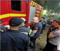 إخماد حريق بمخزن قطع غيار سيارات بعزبة النخل