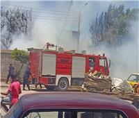 الحماية المدنية تحاول السيطرة على حريق بمحيط محطة قطار زفتي