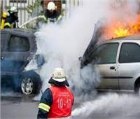 إخماد حريق نشب في سيارة ملاكي بالسلام