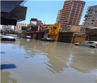 بسبب الأحمال الزائدة.. انفجار خط صرف صحي رئيسي شرقي الإسكندرية