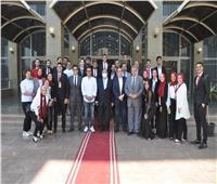 إيهاب توفيق ضيف شرف حفل إحياء ذكرى ٣٠ يونيو بجامعة حلوان