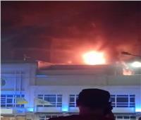 حريق بفندق شهير على كورنيش الإسكندرية | فيديو وصور