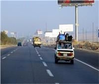 سيولة مرورية وانتظام حركة السيارات في الطرق الرئيسية بالقليوبية