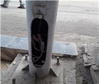 مصرع عامل «صعقا بالكهرباء» أعلى عمود إنارة في بني سويف