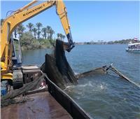 حملة لإزالة التعديات وتطهير مجرى نهر النيل بدمياط