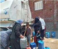 إنقاذ حي الكرامة بالعريش بسيارة مياه للشرب