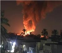 اندلاع حريق بمحيط مطار المثني في العاصمة العراقية بغداد