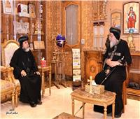 البابا تواضروس يستقبل نيافة الأنبا أبوللو بالمقر البابوي بالقاهرة