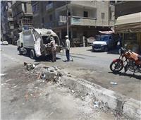 محافظ الدقهلية يتابع رفع كفاءة الشوارع والميادين تراكمات القمامة