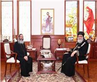 البابا تواضروس يستقبل الأنبا كاراس الأسقف العام