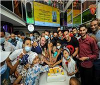 نجوم سيراميكا  فى زيارة لمستشفى سرطان الأطفال ٥٧٣٥٧