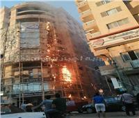 نيابة المنيا: حريق مبنى واجهة نقابة المعلمين نتيجة أعمال الترميم