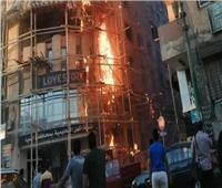 عودة حركة السيارات بعد إزالة آثار حريق نقابة المعلمين بالمنيا