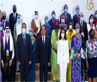 الرئيس السيسي يلتقاط صورة تذكارية مع ممثلي الدول في منظمة التعاون الإسلامي الخاص بالمرأة