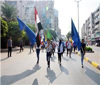 الهجان يشهد مسيرة شبابية ويؤكد: ثورة 30 يونيو ساهمت في بناء الجمهورية الجديدة