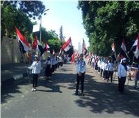 احتفالا بـ30 يونيو |١٠٠٠ شاب ينظمون مسيرة من الأوبرا لمركز شباب الجزيرة