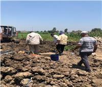 جهود مكثفة لإصلاح كسر بخط مياه «سامول» بالمحلة الكبرى