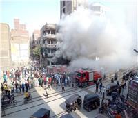 حريق هائل في معرض للسجاد ببني سويف